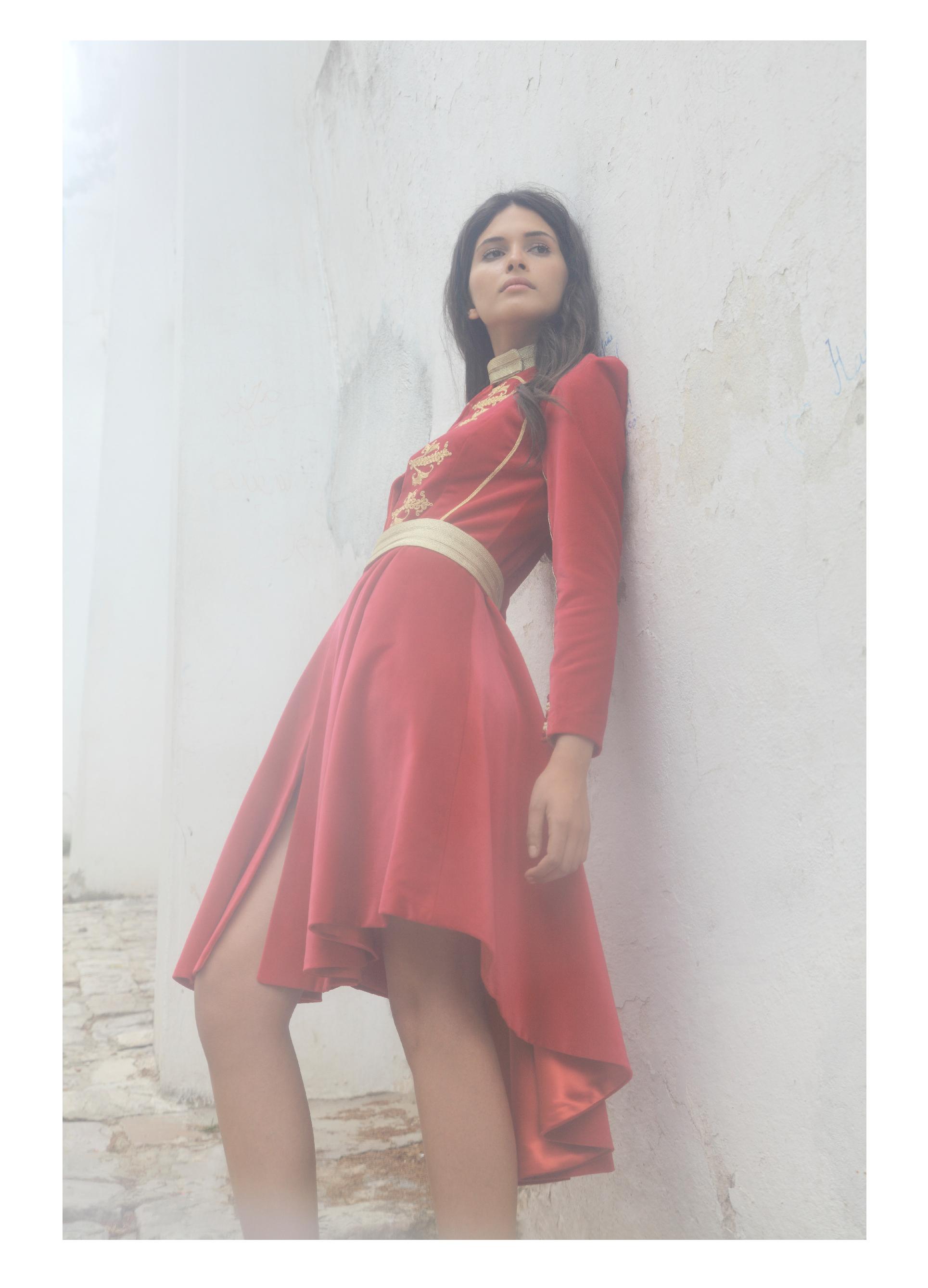 """Robe manteau """"Bêcha"""" en velours de soie brodée, KHAOULA AZIZA COUTURE"""