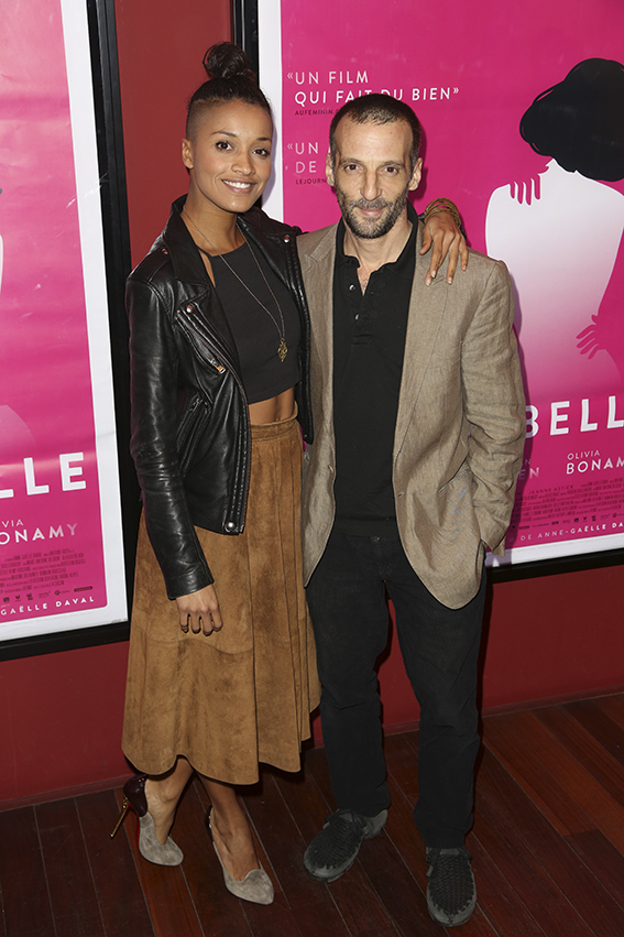 "Mathieu Kassovitz et sa femme Aude Legastelois-Bide lors de la premiere de ""De Plus Belle"" au Publicis Cinema, a Paris, France, le 06 Mars 2017. Photo by Jerome Domine/ABACAPRESS.COM"