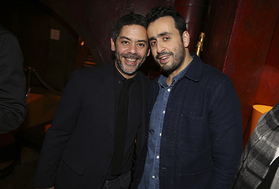 "Manu Payet et Jonathan Cohen lors de l'aftershow de ""De Plus Belle"" au Buddha Bar, a Paris, France, le 06 Mars 2017. Photo by Jerome Domine/ABACAPRESS.COM"